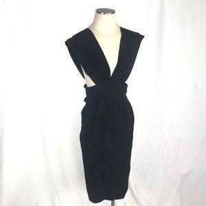 Dresses & Skirts - Deep Cut Midi Wiggle Pencil Dress